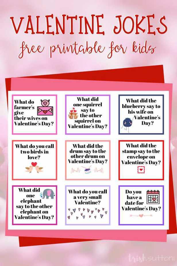 Valentine Jokes for Kids | Free Printable, TrishSutton.com