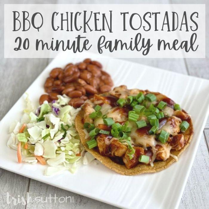BBQ Chicken Tostadas Recipe   Simple 20 Minute Meal