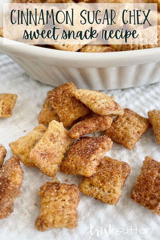 This cinnamon sweet treat is a real sweet tooth satisfier! Enjoy a handful of this tasty Cinnamon Sugar Chex Snack alone, with mix-ins or as a dessert topper.