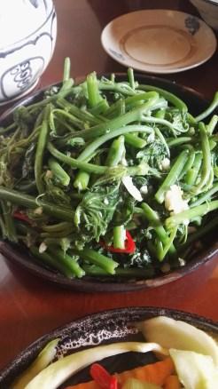 Chayote and garlic