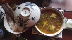 Sour soup with chopped meat