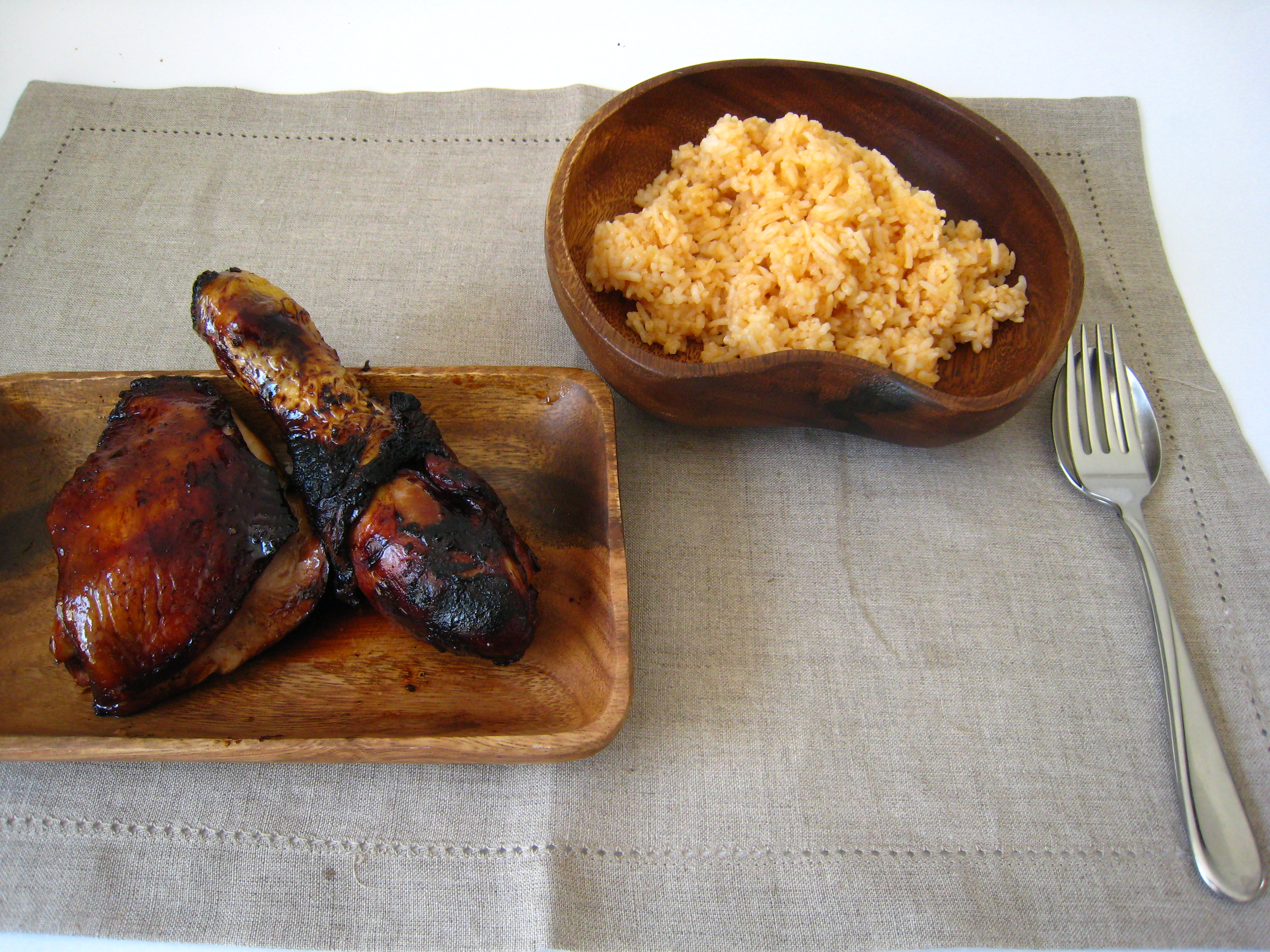 Chicken Barbecue and Java Rice