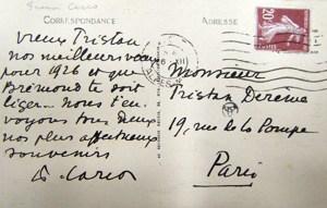 Voeux de Francis Carco 1926 de Nice v