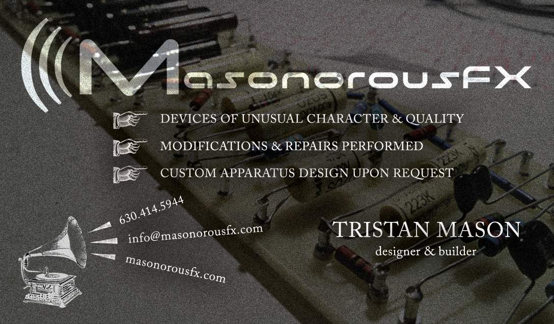 Logo/Graphic Design: MasonorousFX Business Card