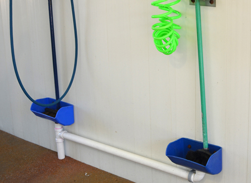 Self Serve Car Wash Bay Brush Holder Wall Mounts distributed by Tri State Car Wash Solutions