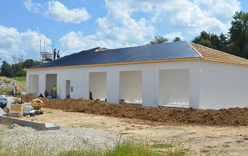 The Wash House building construction by Tri State Car Wash Solutions