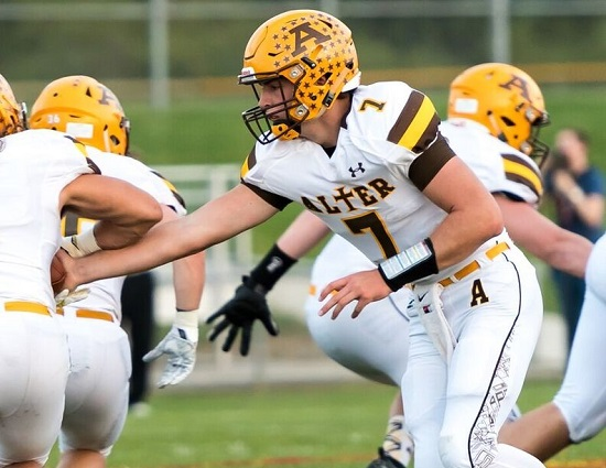 Alter Spint alter posts fourth shutout of the season tristatefootball com