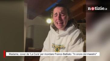 """Madame, cover de 'La Cura' per ricordare Franco Battiato: """"In onore del maestro"""""""