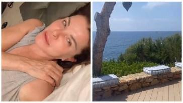 Alba Parietti si sveglia nella casa a Ibiza #albaparietti