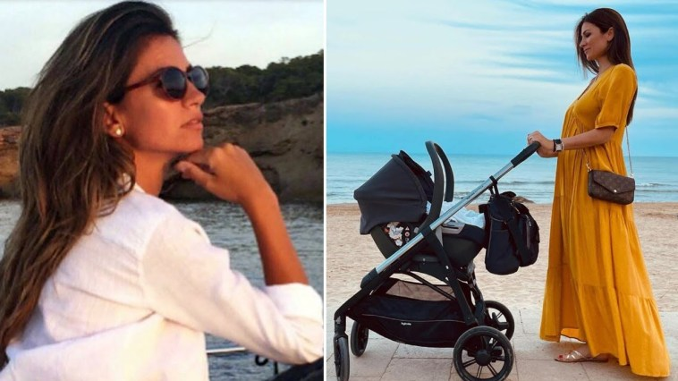 Alessia Ventura mamma a 41 anni porta al mare la piccola Ginevra