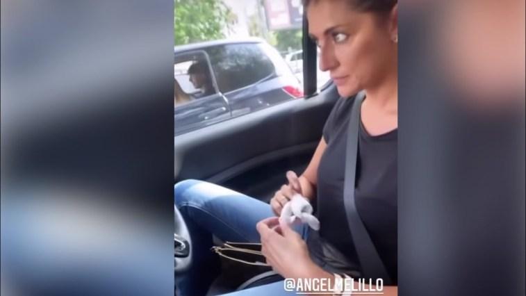 Angela Melillo assieme a Elisa Isoardi che si è ferita ad un dito della mano #isola
