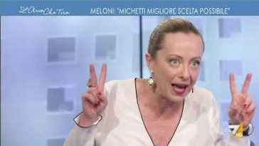 """Giorgia Meloni: """"Me so' stufata, ma qualcuno ha letto i curricula dei parlamentari di Fratelli …"""