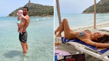 Giorgia Palmas porta la piccola Mia per la prima volta al mare in Sardegna