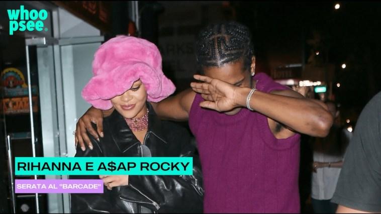 "Rihanna e A$ap Rocky, serata al ""Barcade"""