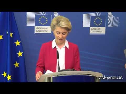 Von der Leyen: giornata storica per l'Ue, investiamo sul futuro