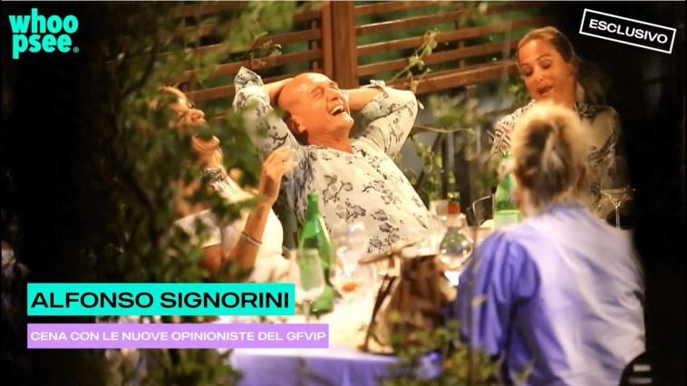 Alfonso Signorini: cena con le nuove opinioniste del GFVIP