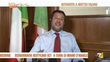 """Crescita dei contagi in Inghilterra, Matteo Salvini: """"Al modello inglese preferisco il modello …"""