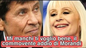 """La commovente lettera di Gianni Morandi a Raffaella Carrà: """"Ti voglio bene, mi manchi"""