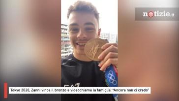 """Tokyo 2020, Zanni vince il bronzo e videochiama la famiglia: """"Ancora non ci credo"""""""