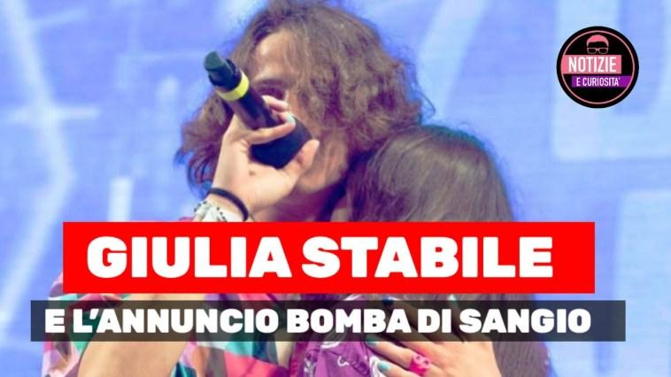 Giulia Stabile Io sono pronta! L'annuncio bomba di Sangiovanni. Qual' è il vostro singolo preferito?