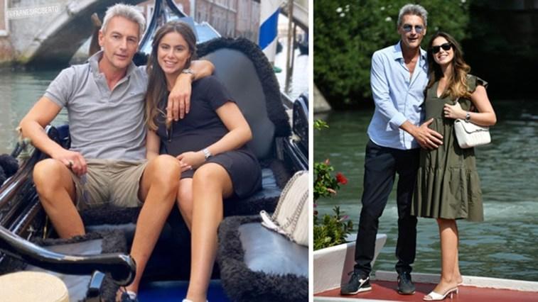 Roberto Farnesi romantico a Venezia con la compagna in dolce attesa