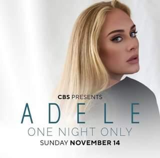 """""""ADELE: One Night Only"""" è il titolo dello speciale di due che andrà in onda sulla CBS il p…"""