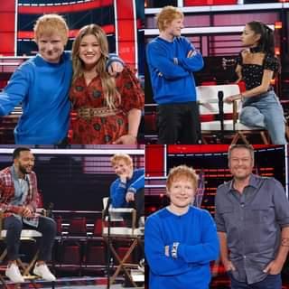 #Curiosità Ed Sheeran si unirà a Kelly Clarkson, Ariana Grande, John Legend e Blake Shel…