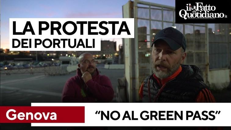 """Green pass, portuali di Genova: """"Strumento sbagliato. I fascisti? Noi difendiamo i lavoratori"""""""