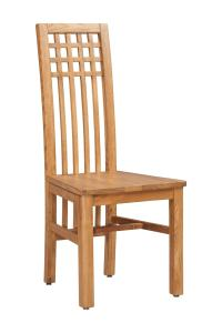 Creswell Wood Seat Solid Oak Chair (2 piece set) | TriThi ...