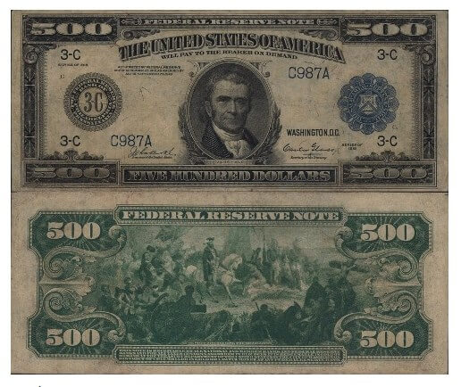 Tờ 500 USD in John Marshall