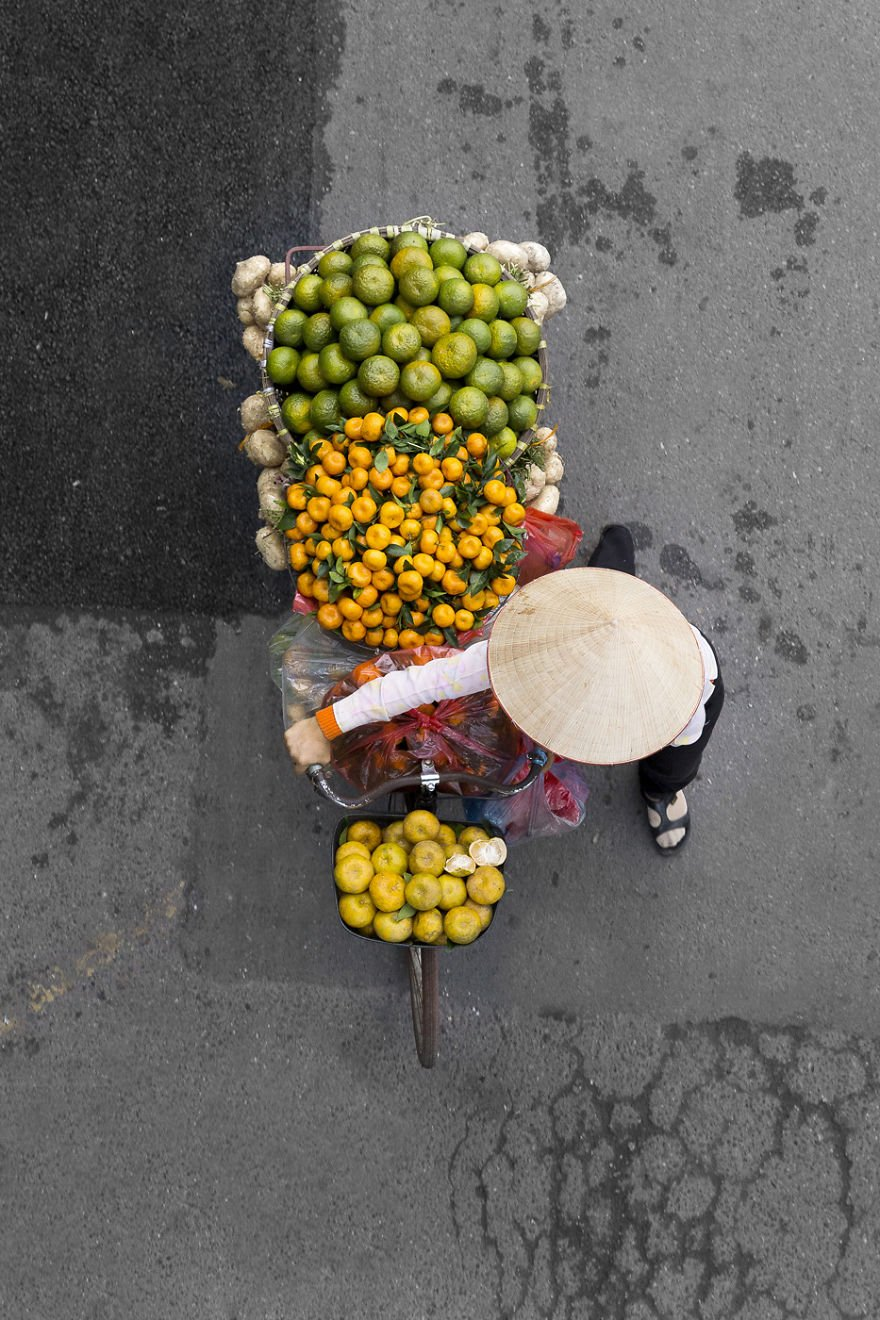 """""""They color the city,"""" she said. """"I wanted to take the pictures from above so there would be no distractions on the images beside the vendors."""""""