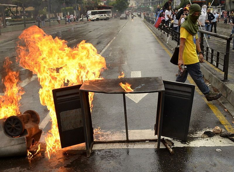 Biểu tình và bạo loạn đã trở thành bình thường tại Venezuela (Ảnh: wikipedia)