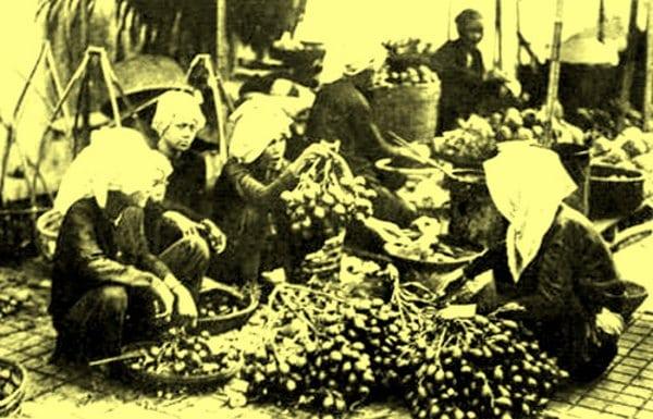 Chợ Hà Nội xưa (Ảnh)