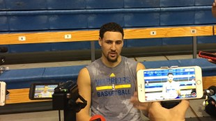 Klay Thompson, Warriors  starting shooting guard, is looking forward to a strong season. (Shine Cho/The Triton)