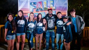 ASCE staff with Casey Veggies at Fall Y'all. (Anthony Tran).