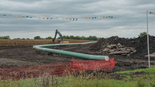 The controversial Dakota Access Pipeline in central Iowa.