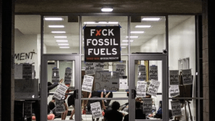 Student activists stage a sit-in at UCSB Cheadle Hall proposing fossil fuel divestment. The sit-in, held on May 11, went on for 72 hours. Jose Ochoa / Daily Nexus