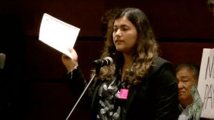 Caroline Siegel Singh speaks at the Jan 24, 2018 UC Regents Meeting.