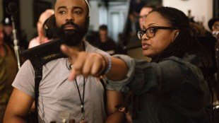 Bradford Young and Ava DuVernay on the set of Selma. Image courtesy of Paramount.