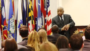 Congressman John Lewis speaks to MBA students. Photo courtesy of Joshua Richards. Link to photo license
