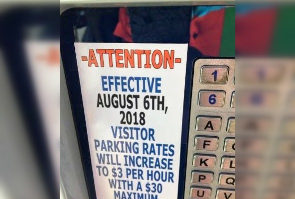 Transportation Services Raises Visitor Parking Rates Due To