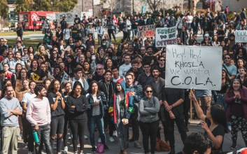 Photos from COLA strike at UC San Diego.