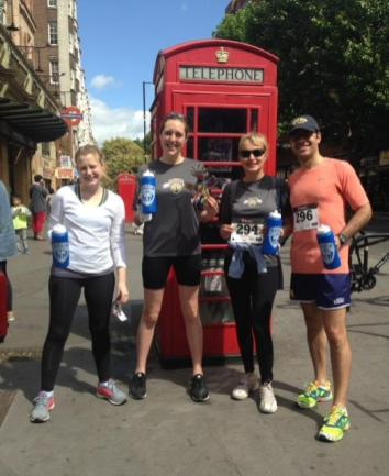 ... And London (pictured here) was represented too for the remote Triton 5K, supporting student scholarships.