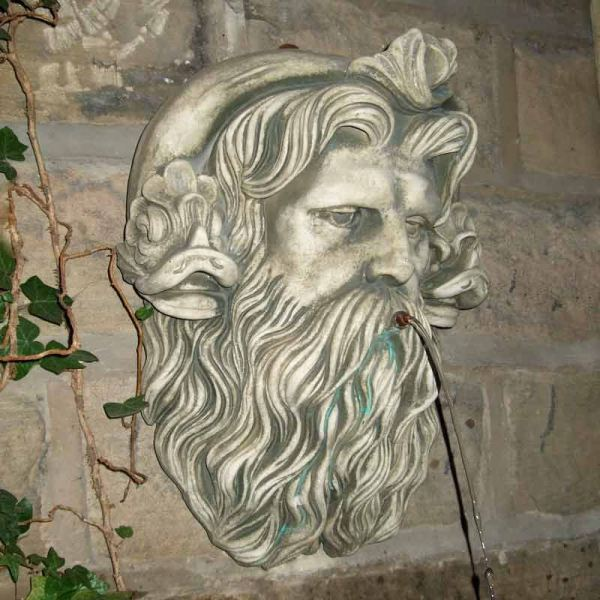 Neptune Head Water Spout Stone Garden Ornaments