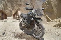 Estado de la moto tras la caída
