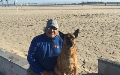 Kona's Trip to the Beach Obedience training and fun!