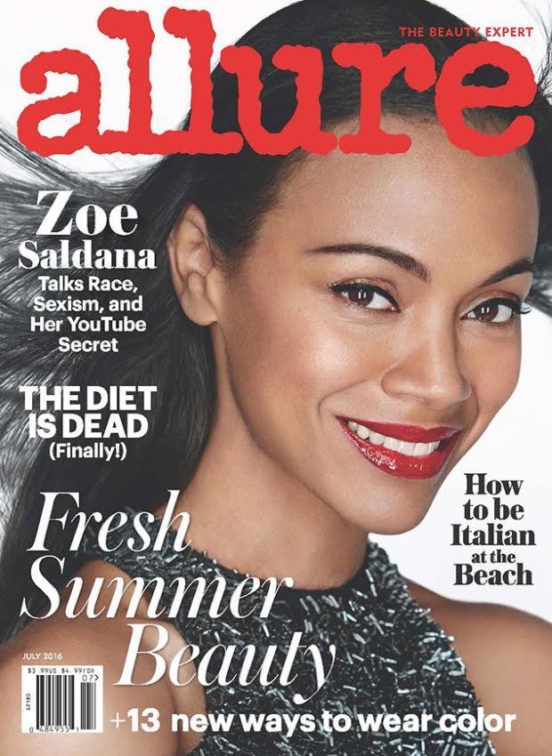 Zoe Saldana- Allure Magazine