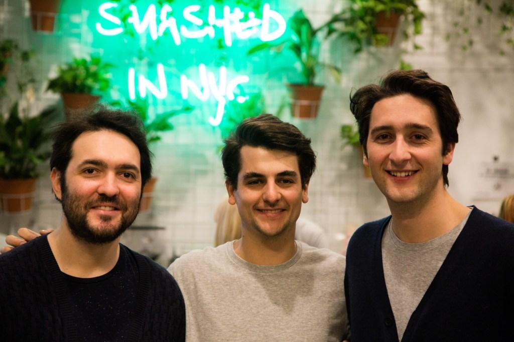 Avocaderia owners Alberto Gramigni, Alessandro Biggi, and Francesco Brachetti.