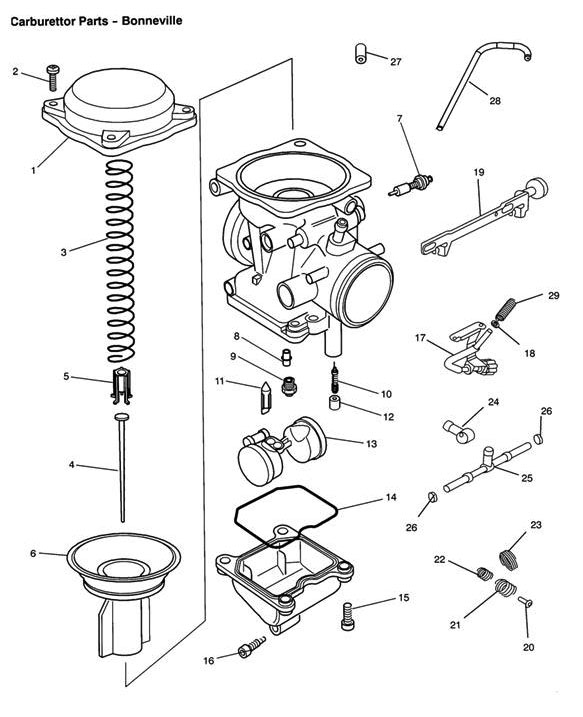 2001 triumph bonneville engine diagram