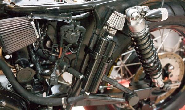 Bonneville Performance Oil Breather Kit installed